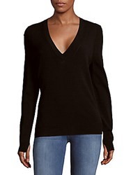 Zadig And Voltaire Rina Solid Ribbed Top Black
