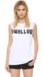 Mcq By Alexander Mcqueen Boyfriend Tank Optic White Swallow