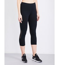 French Connection Comfort Cropped Stretch Jersey Leggings Black
