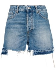 Marcelo Burlon County Of Milan Ripped Shorts Blue