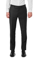 Topman Men's Slim Fit Charcoal Suit Trousers