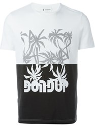 Dondup Color Block Print T Shirt White