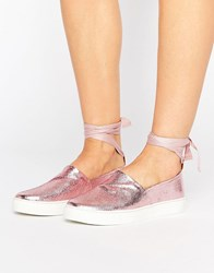 Clover Canyon Tie Leg Shoes Pink