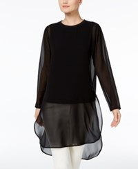Alfani Illusion Tunic Only At Macy's Deep Black