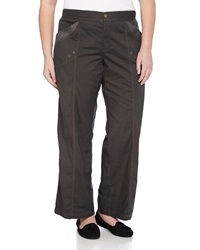 Xcvi Yosemite Wide Leg Poplin Pants Shadow