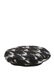 Eugenia Kim Cher Houndstooth Beret Black White