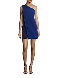 Sandro One Shoulder Bodycon Dress Blue