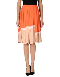 Just In Case Knee Length Skirts Orange
