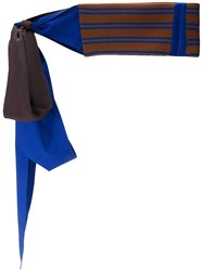 Marni Ribbed Knitted Belt Blue