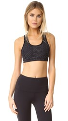 Free People Movement Cleo Reflective Sports Bra Black
