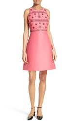 Kate Spade Women's New York Embellished A Line Dress Tile Pink