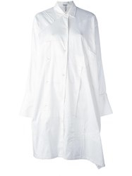 Loewe Patchwork Oversized Shirt Dress White