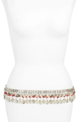 Raga 'Colorful Dream' Beaded Coin Belt Red