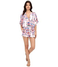 Red Carter Dream Catcher Romper Cover Up White Women's Swimsuits One Piece