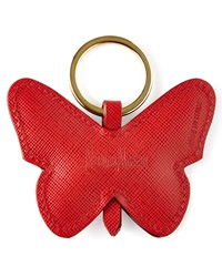 Red Butterfly Key Ring Neiman Marcus