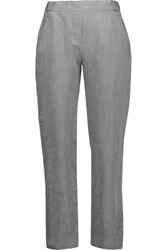 Maison Martin Margiela Mm6 Woven Tapered Pants Gray