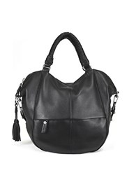 Sanctuary Tassel Leather Satchel Bag Black