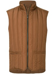 Cerruti 1881 Padded Gilet Brown