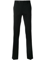Salvatore Ferragamo Tailored Trousers Cotton Black