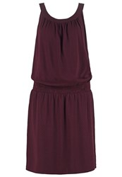 Opus Wajala Summer Dress Dark Port Bordeaux