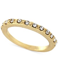 Bcbgeneration Gold Tone Crystal Pave Ring