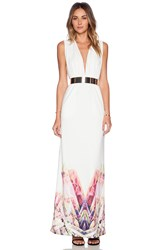 Aq Aq Snap Maxi Dress White