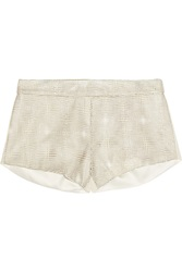 Mason By Michelle Mason Patent Leather Paneled Cady Shorts