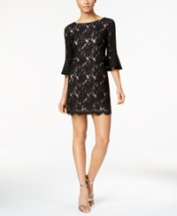 Jessica Howard Lace Bell Sleeve Sheath Dress Regular And Petite Sizes Black