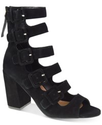 Chinese Laundry Twilight Buckled Block Heel Sandals Women's Shoes Black