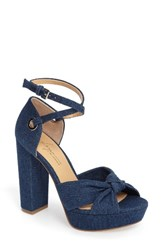Women's By Zendaya Mission Ankle Wrap Platform Pump Dark Blue