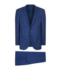 Corneliani Wool Micro Stripe Suit Male