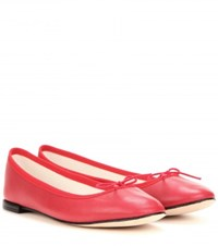 Repetto Cendrillon Leather Ballerinas Red