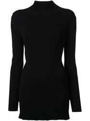 Christopher Esber Interlock Turtleneck Knit Jumper Black