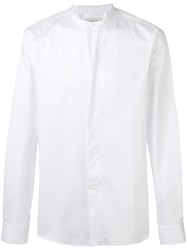 Christophe Lemaire Collarless Shirt White