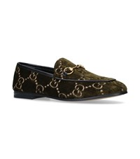 Gucci Velvet Gg Jordaan Loafers Green