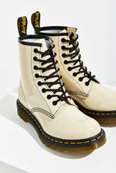 Dr. Martens 1460W Patent Leather Boot Ivory