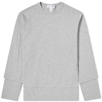 Comme Des Garcons Shirt Long Sleeve Layered Tee Grey