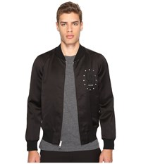 Marc Jacobs Satin Suiting Bomber Jet Black