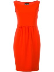 Boutique Moschino Boat Neck Sleeveless Dress Red