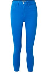 L'agence The Margot Cropped High Rise Skinny Jeans Bright Blue