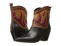 Just Cavalli Nappa With Fires Short Boots Black Brown Women's Boots