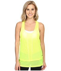 Zobha Cody Mesh Racerback Singlet Lemon Balm Women's Workout Yellow