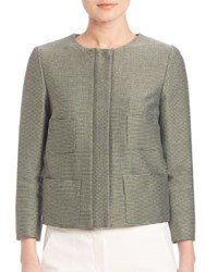 Armani Collezioni Milly Tweed Jacket Green Multi