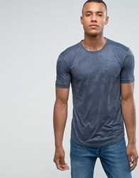 Loyalty And Faith Suedette T Shirt With Sleeve Detail Gray