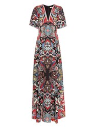 Etro Paisley Print Silk Maxi Dress