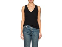 Lilla P Mock Wrap Cotton Tank Black