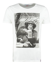 French Kick Monkey Cool Print Tshirt White