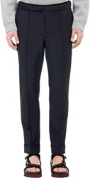 Valentino Worsted Elastic Waist Trousers Blue