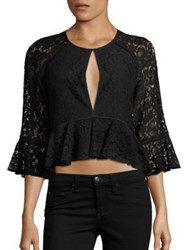 Likely Avers Lace Peplum Top Black