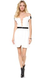 Three Floor White Out Dress Nude White Black